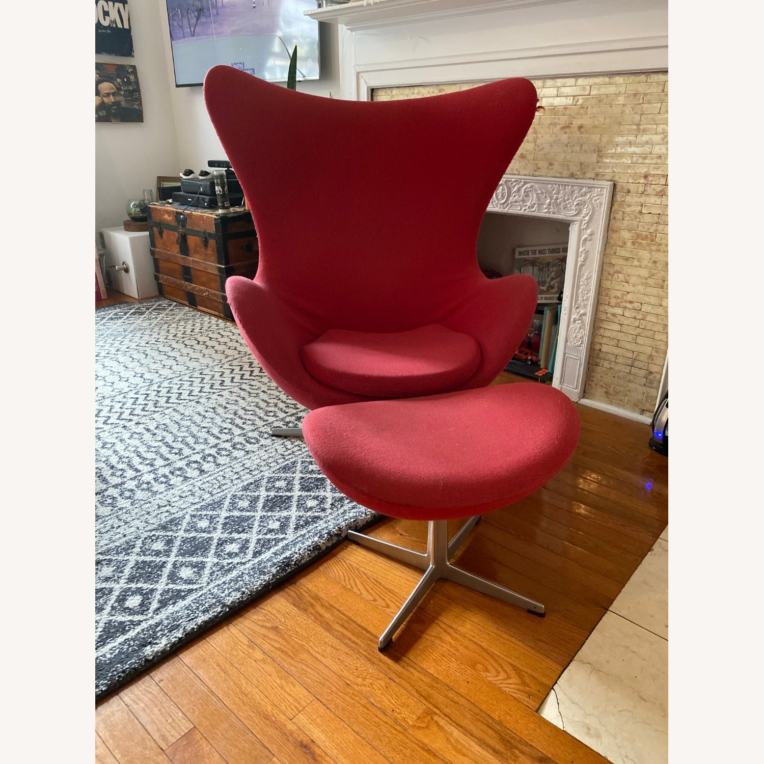 Fritz Hanson Egg Chair and footstool - image-1