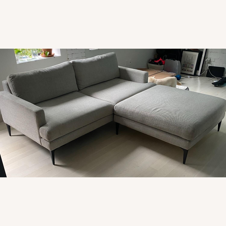 West Elm Sofa & Ottoman - image-5