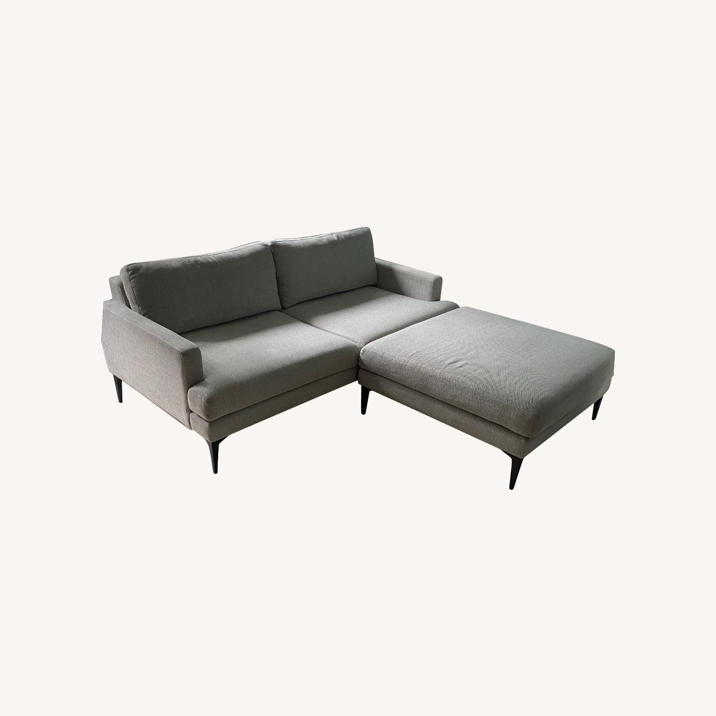 West Elm Sofa & Ottoman - image-0