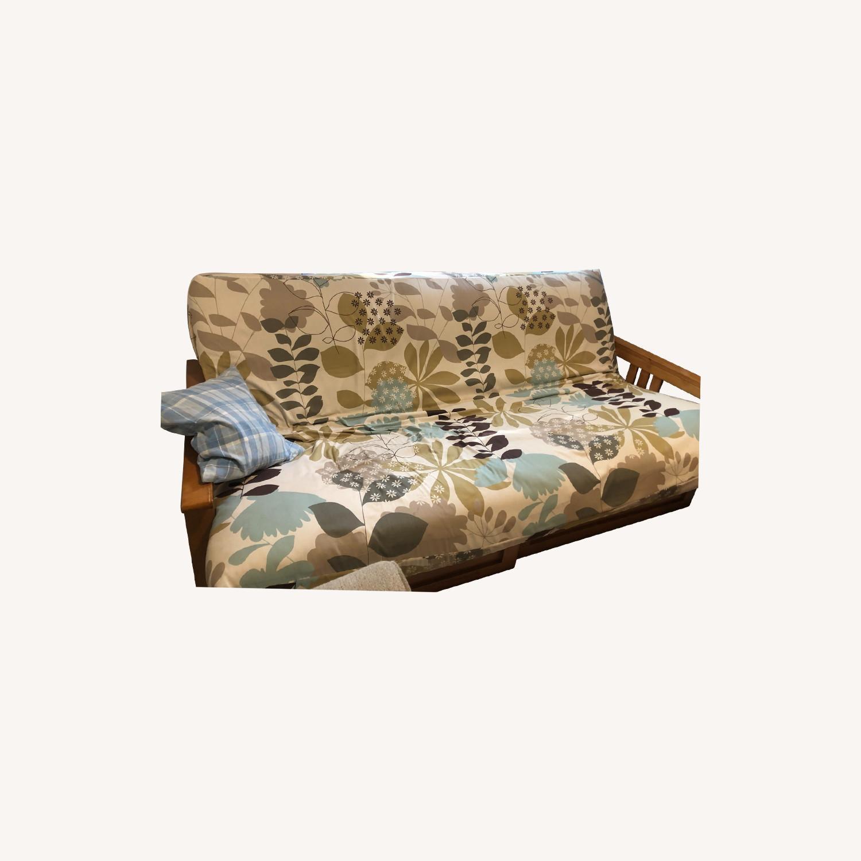 Queen Size Hardwood futon - image-0