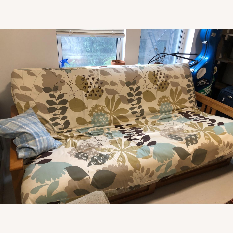 Queen Size Hardwood futon - image-1