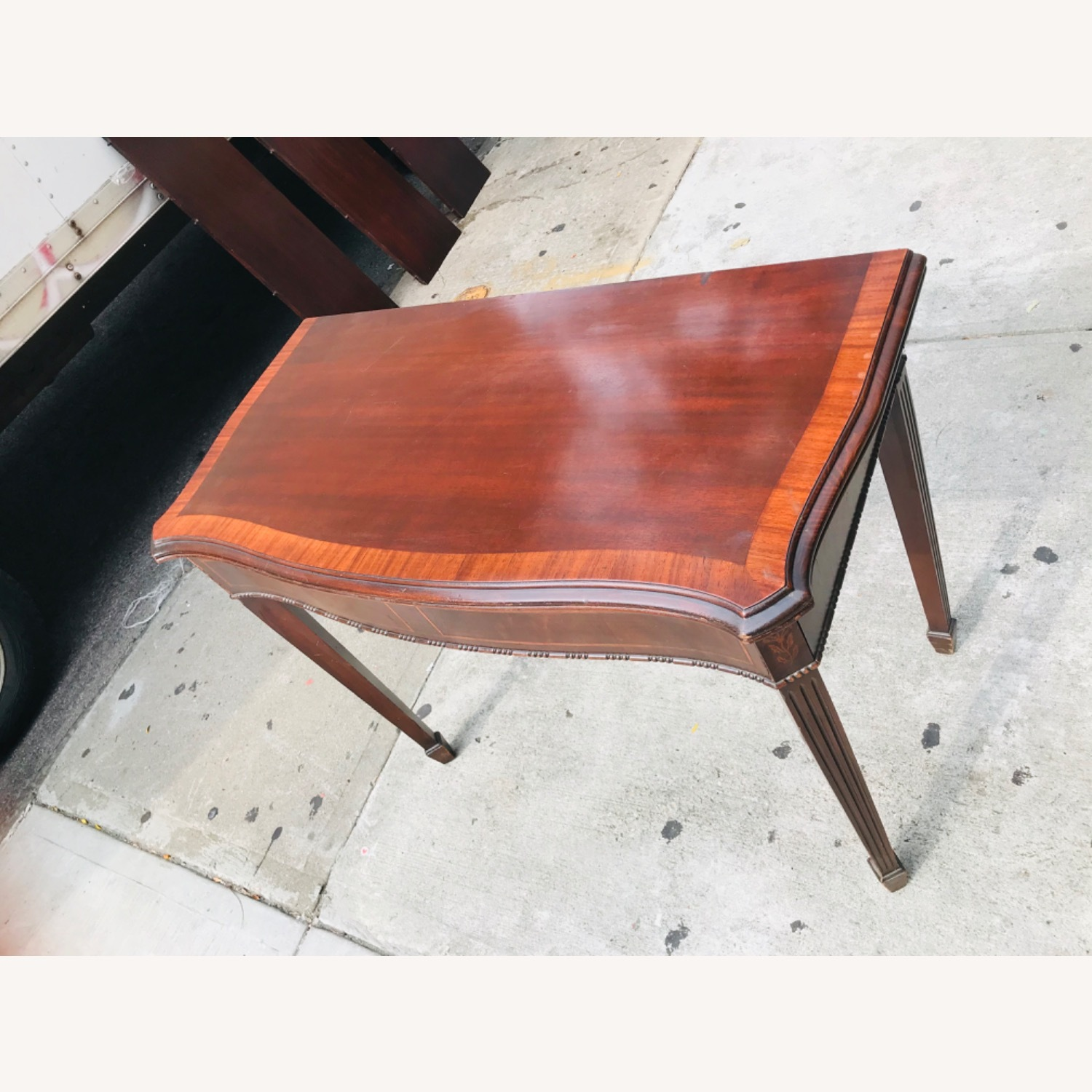Antique 1920s Mahogany Table w/3 Leaves  - image-3
