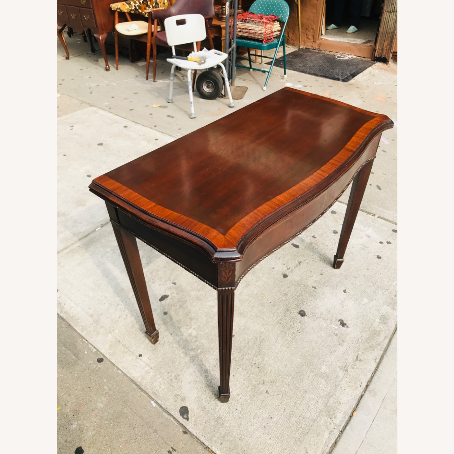 Antique 1920s Mahogany Table w/3 Leaves  - image-8