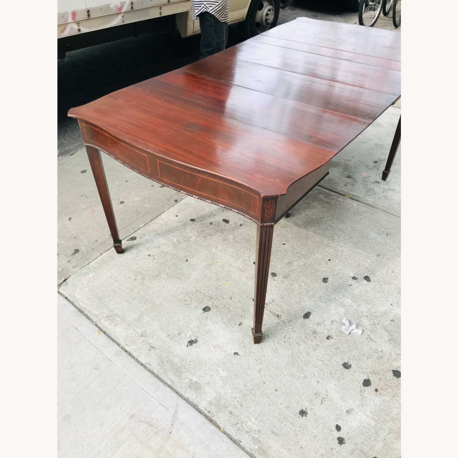Antique 1920s Mahogany Table w/3 Leaves  - image-20