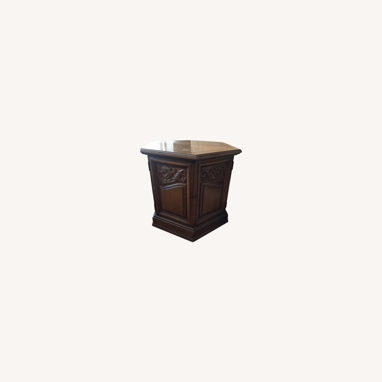 Decorative Wood Side Table - image-0