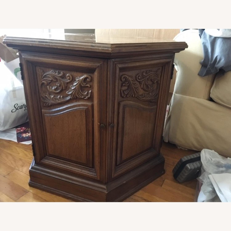 Decorative Wood Side Table - image-1
