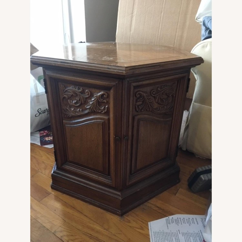 Decorative Wood Side Table - image-2