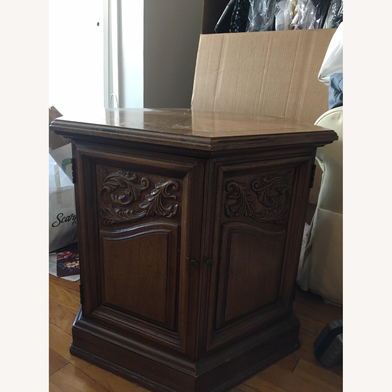 Decorative Wood Side Table - image-3