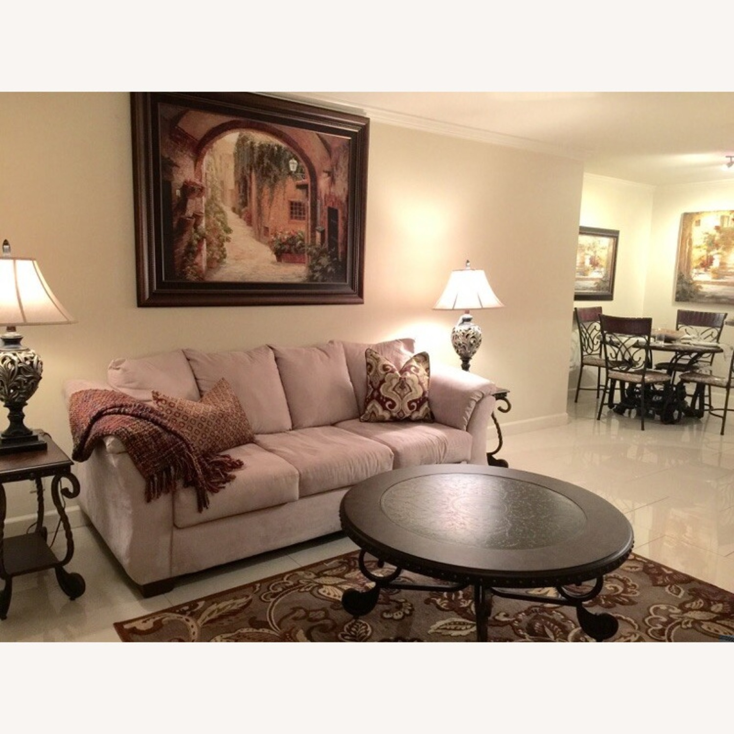 Beautiful Elegant Three Seater Comfortable Couch - image-1