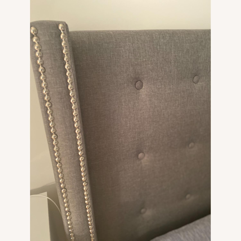 Wayfair Gray Tufted Storage Platform Bed (Queen) - image-2