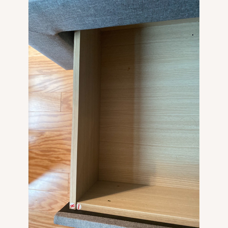Wayfair Gray Tufted Storage Platform Bed (Queen) - image-4