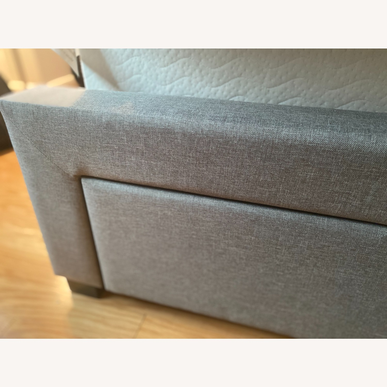 Wayfair Gray Tufted Storage Platform Bed (Queen) - image-3