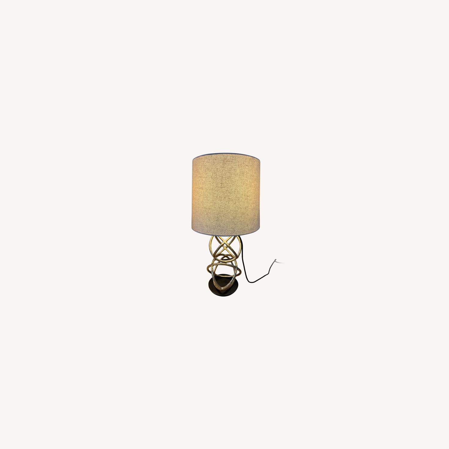 West Elm Double Geodesic Sculpture Table Lamps - image-0