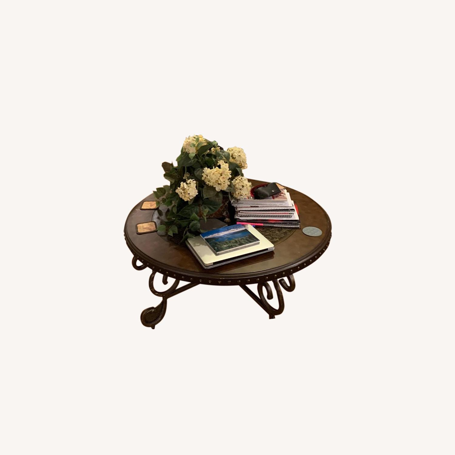 Antique Ornate Coffee Table - image-0
