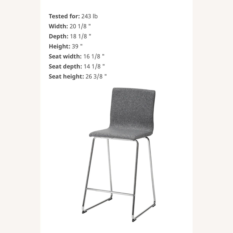 IKEA Volfgang Bar Stools Grey - image-3