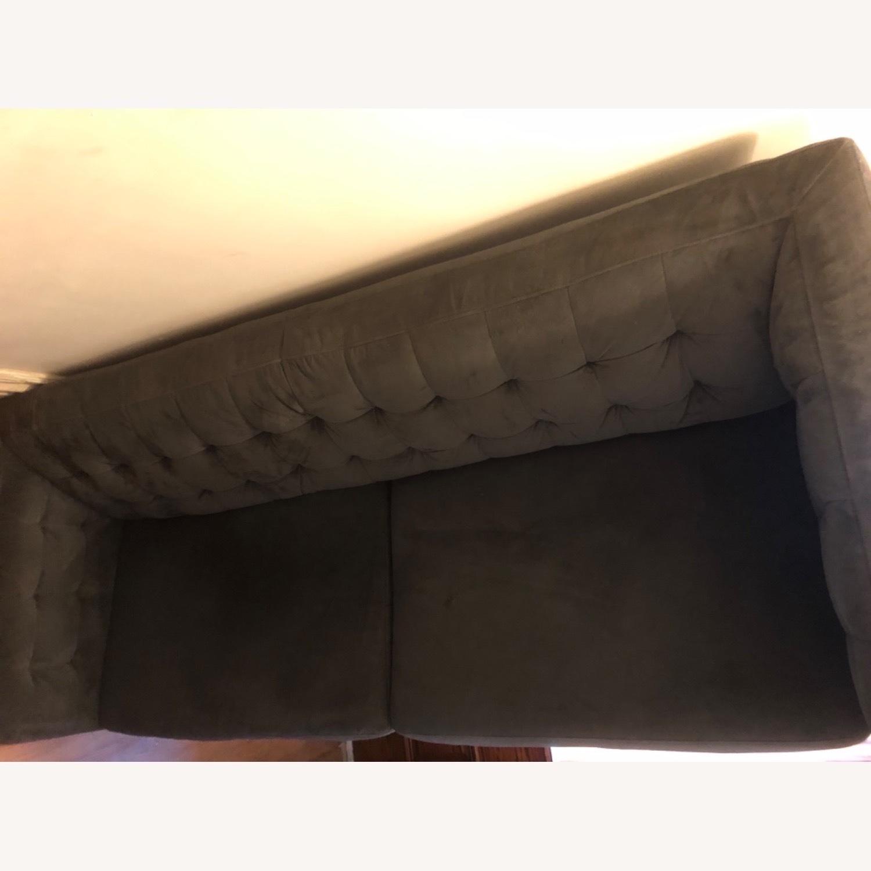 West Elm Navy Blue sofa - image-5