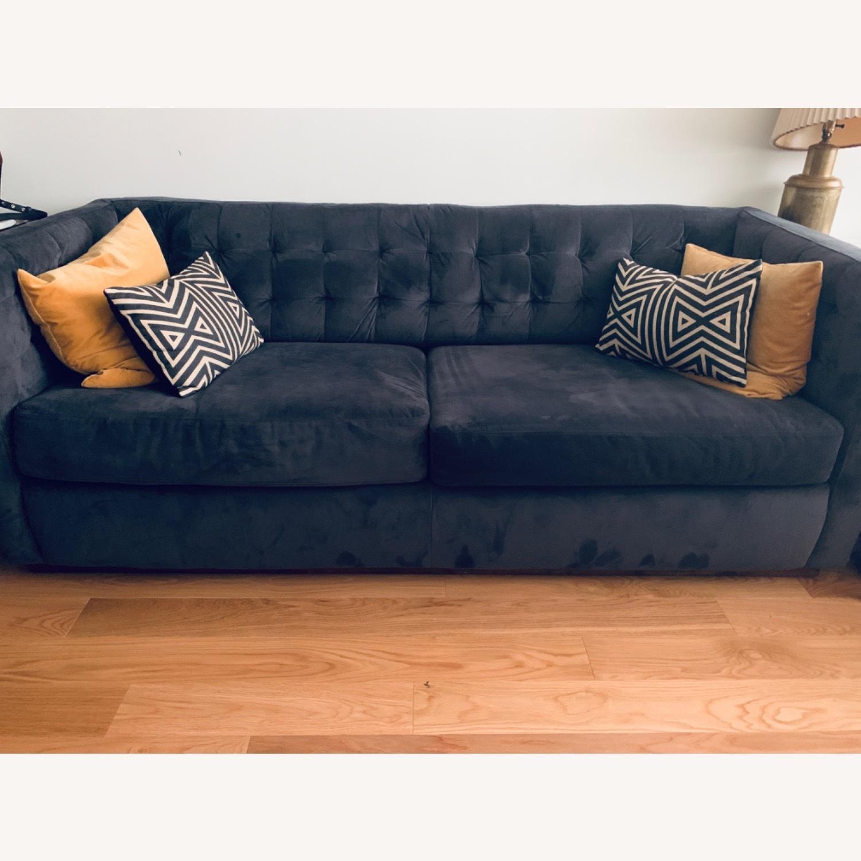 West Elm Navy Blue sofa - image-0