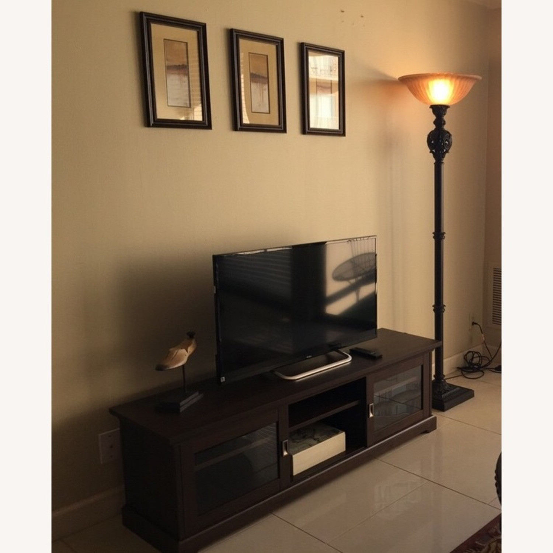 Elegant TV stand with storage - image-1