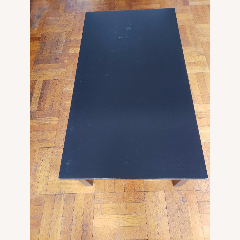 Wood Coffee Table painted black - image-4