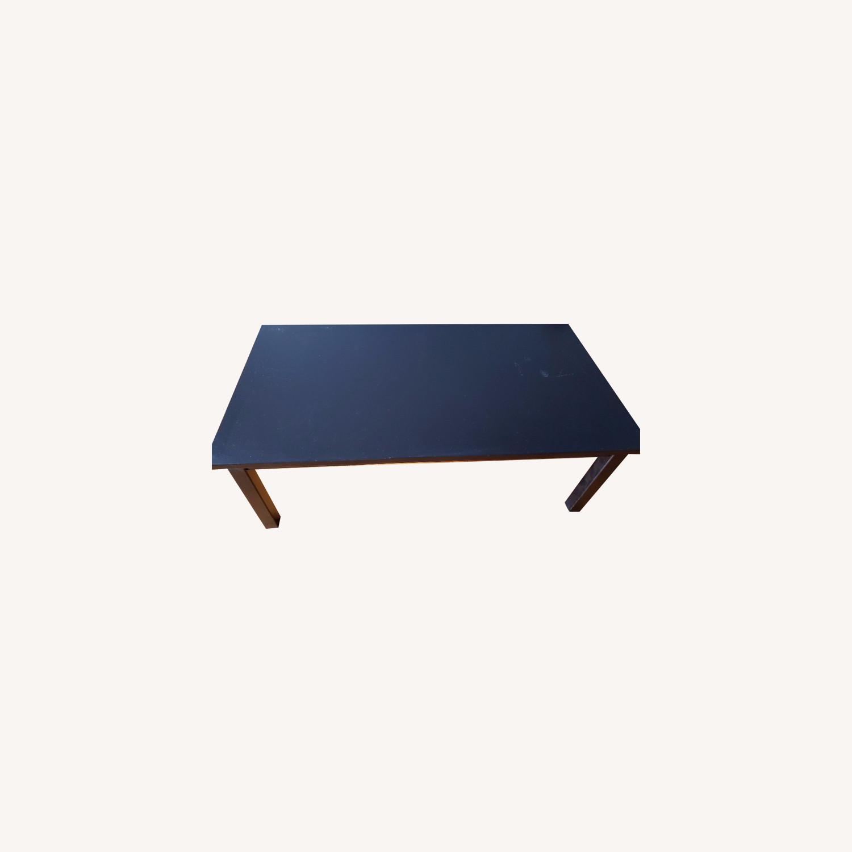 Wood Coffee Table painted black - image-0