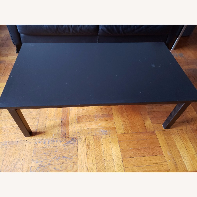 Wood Coffee Table painted black - image-2