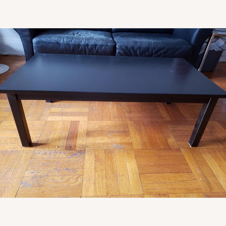 Wood Coffee Table painted black - image-5