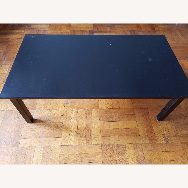 Wood Coffee Table painted black - image-1
