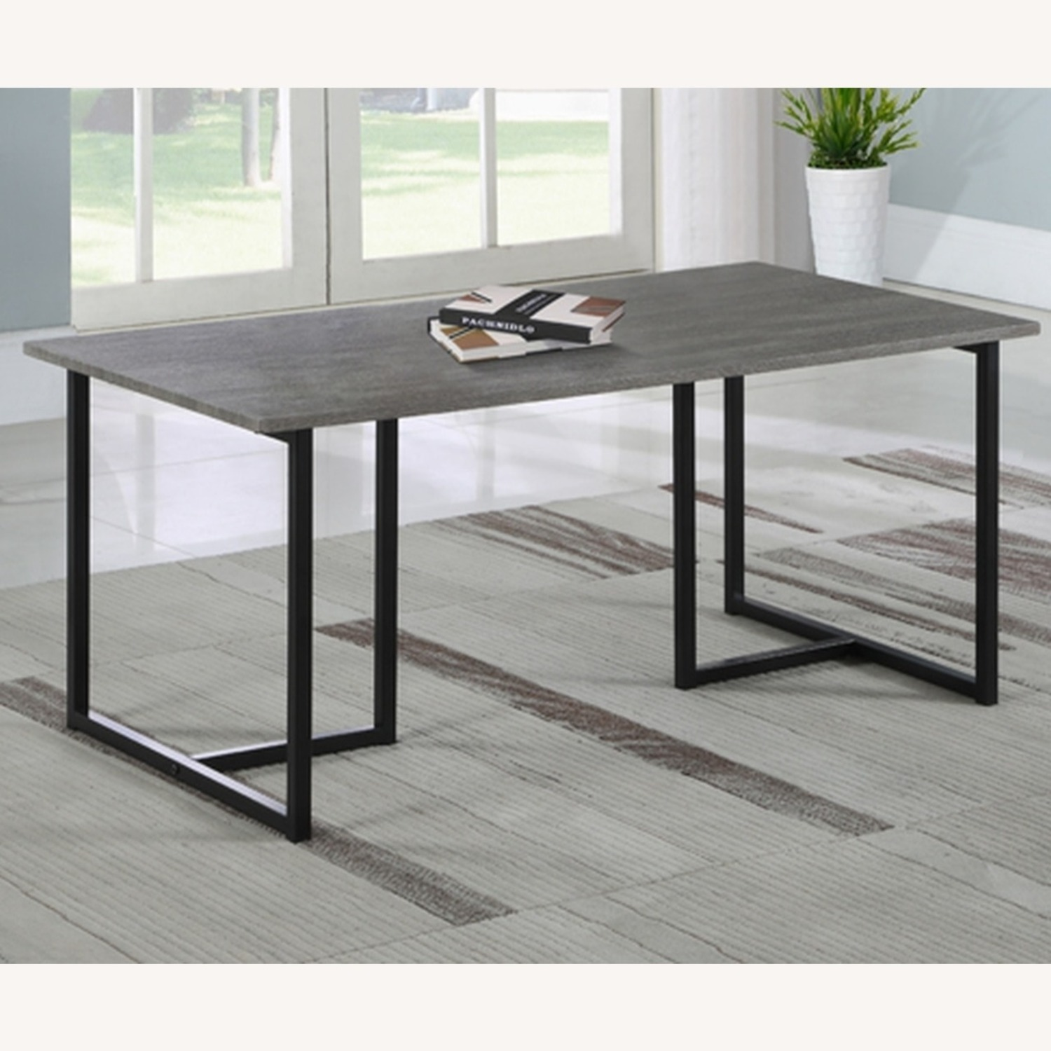 3-Piece Occasional Set In Grey And Black Finish - image-2