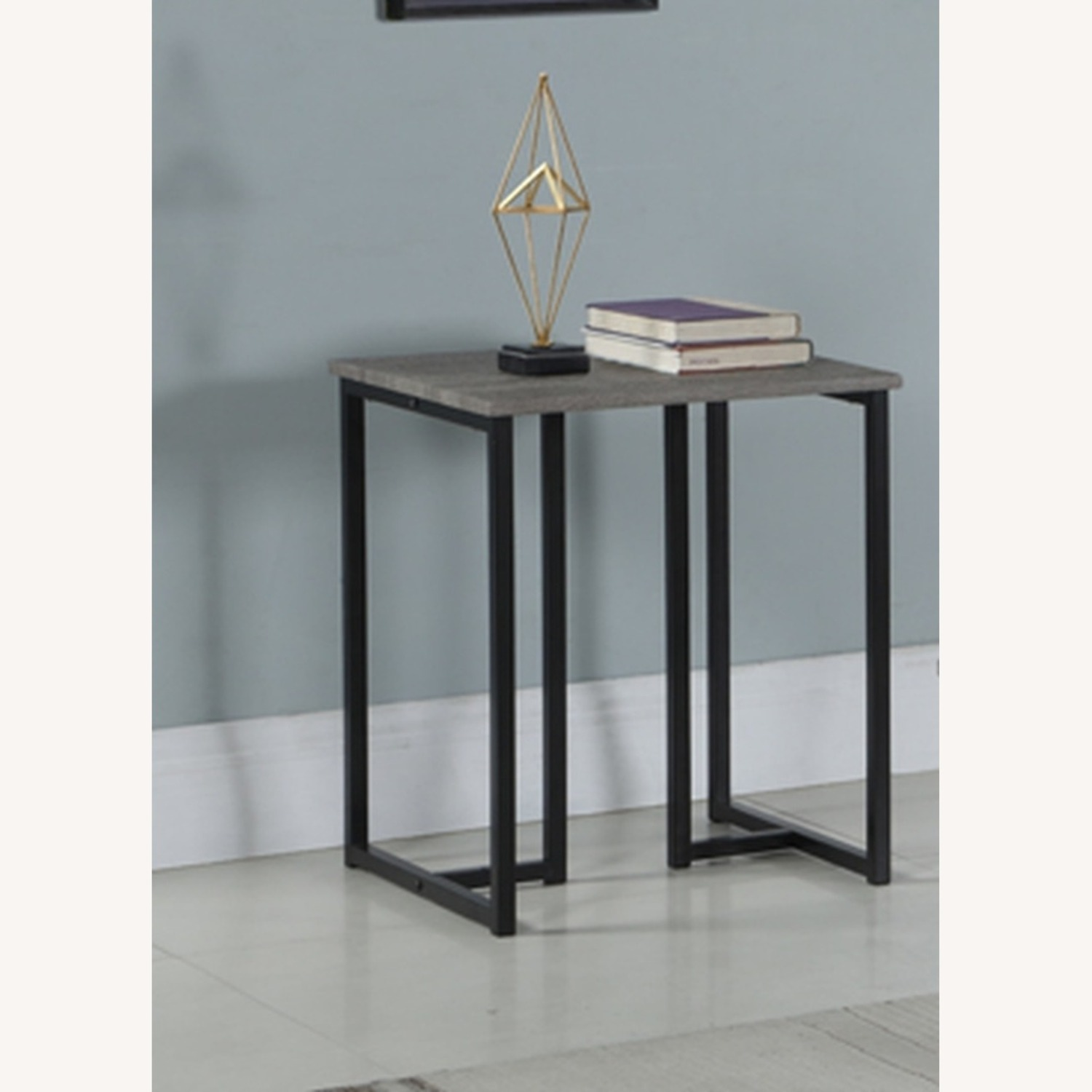 3-Piece Occasional Set In Grey And Black Finish - image-1