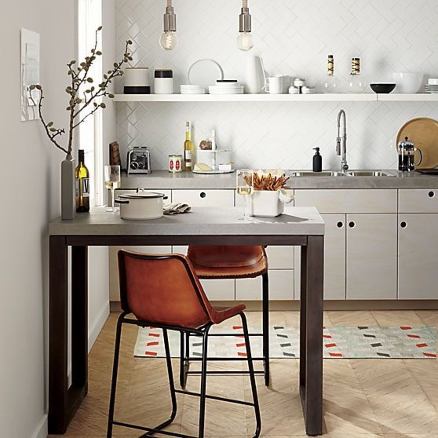 CB2 Industrial High Top Dining Table - image-5