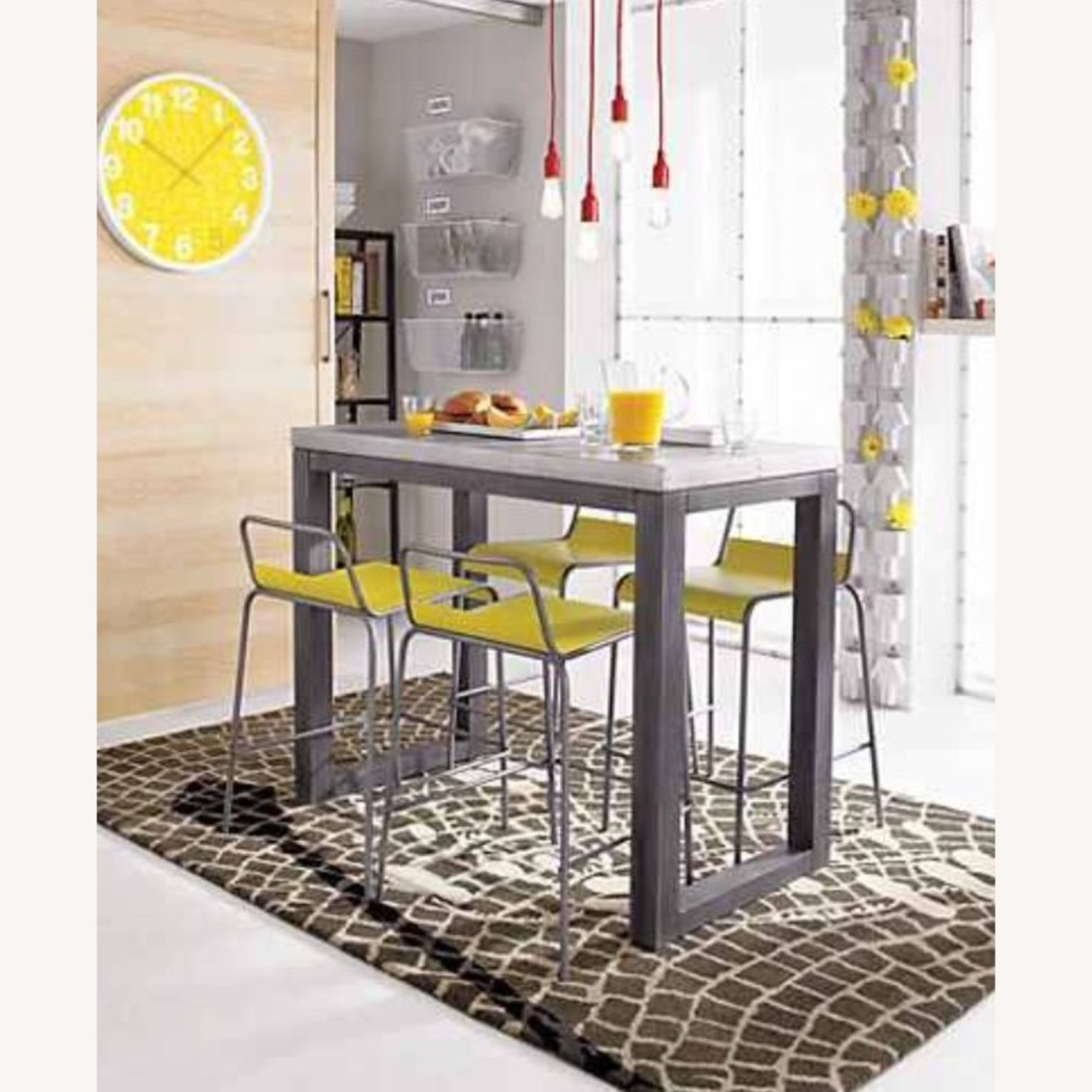 CB2 Industrial High Top Dining Table - image-3