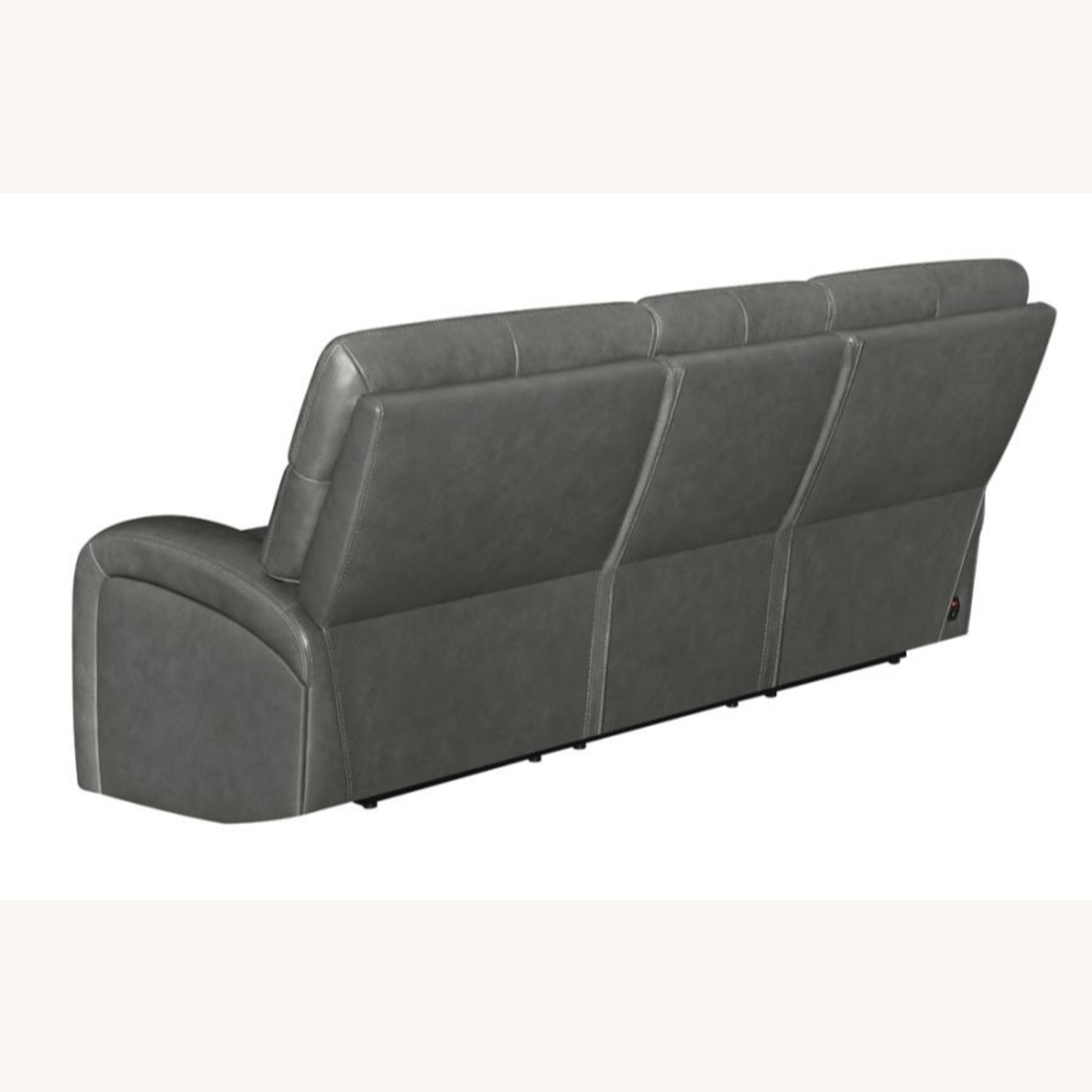 Power Sofa In Charcoal Top Grain Leather  - image-3