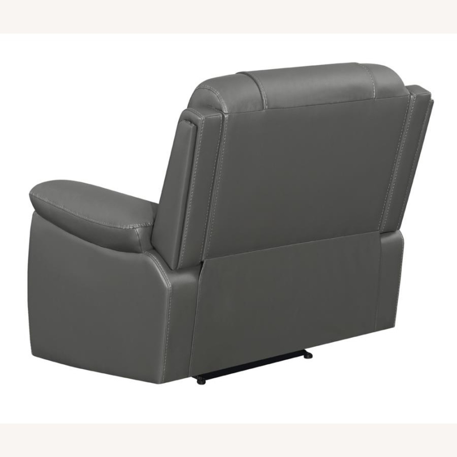 Recliner In Charcoal Performance Leatherette - image-3