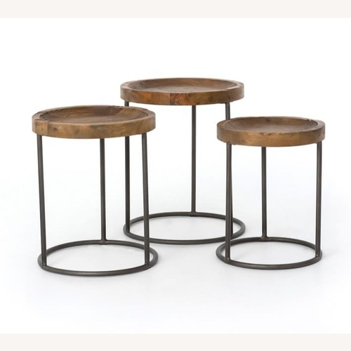Used Pottery Barn Antero Round Nesting Tables, Set of 3 for sale on AptDeco