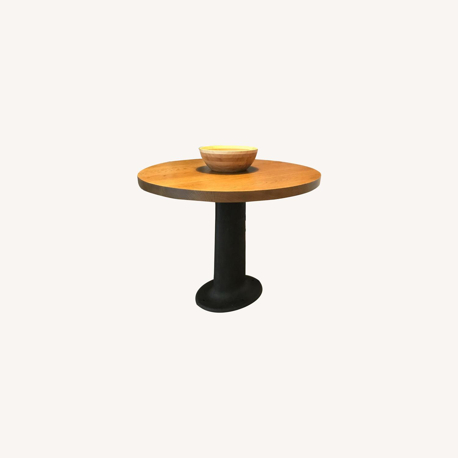 Vintage Wood and Iron Table - image-0