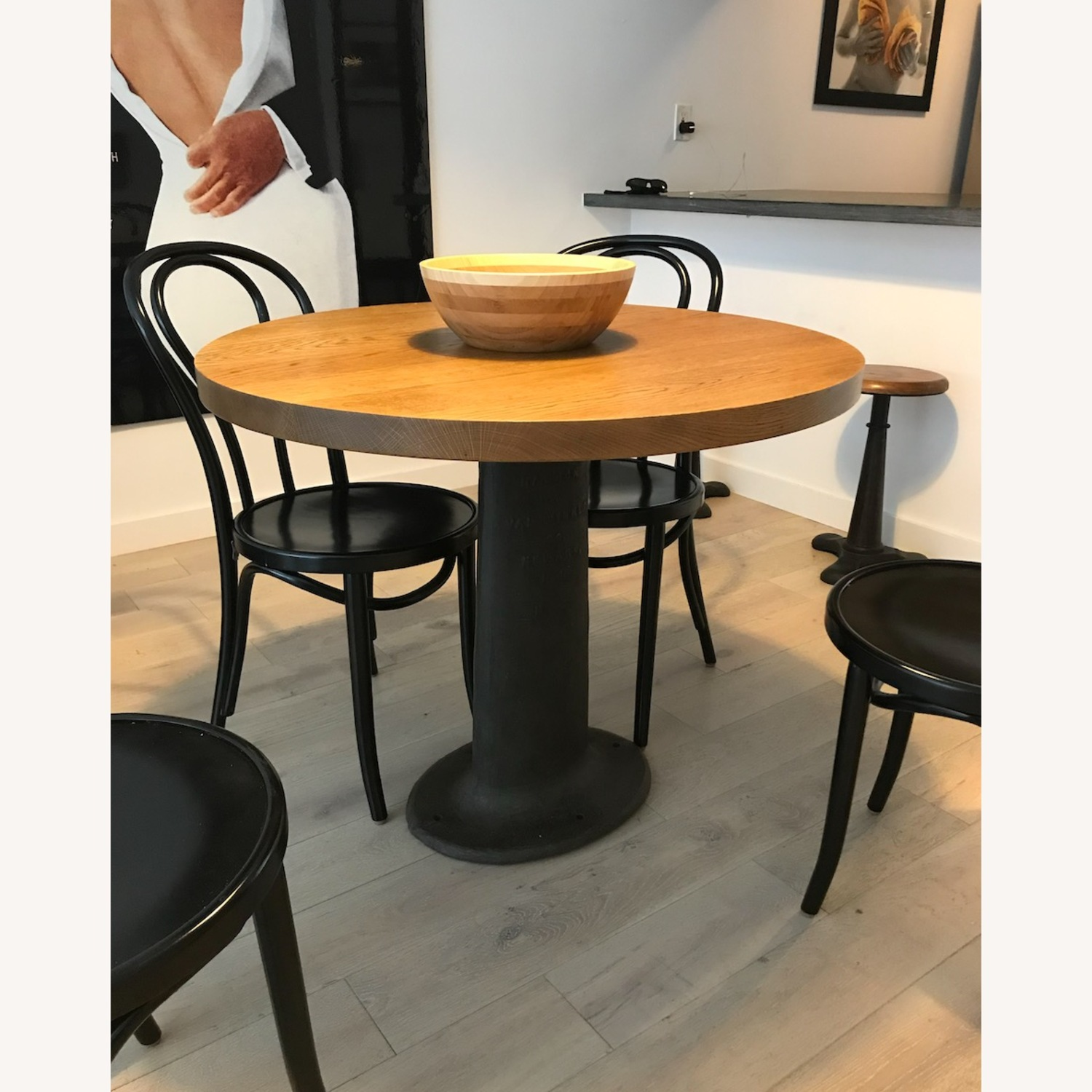 Vintage Wood and Iron Table - image-3