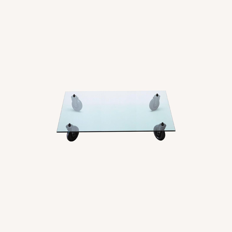 Gae Aulenti Glass Coffee Table - image-0