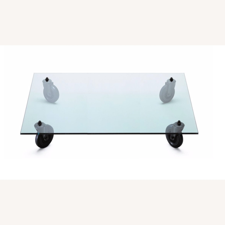 Gae Aulenti Glass Coffee Table - image-3