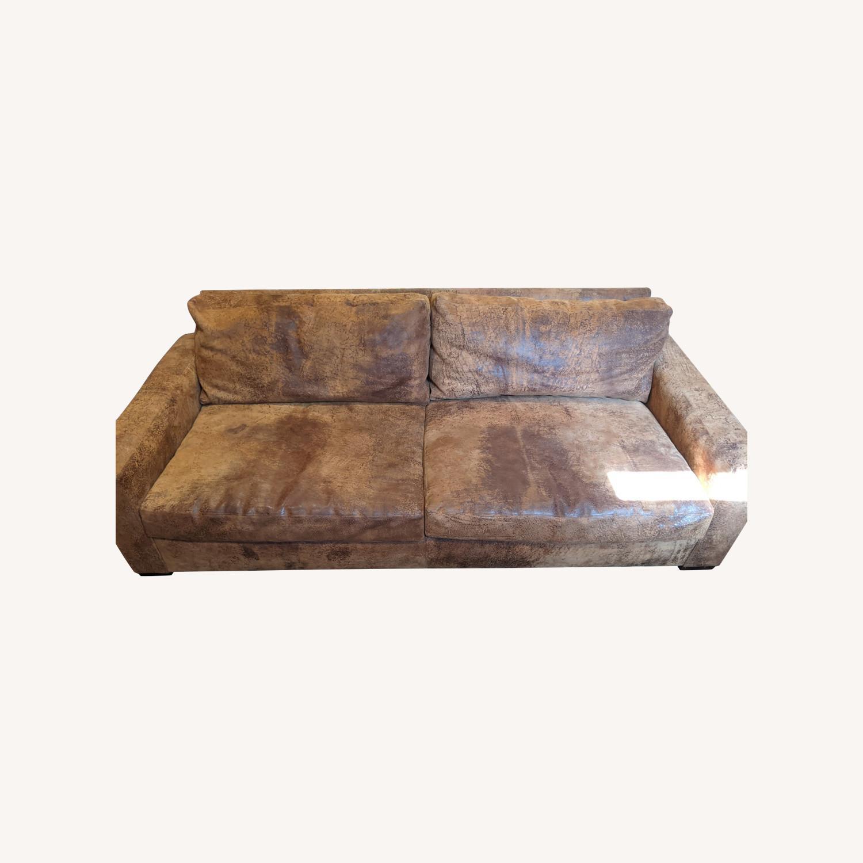 Restoration Hardware Maxwell Sofa -Italian Leather - image-0