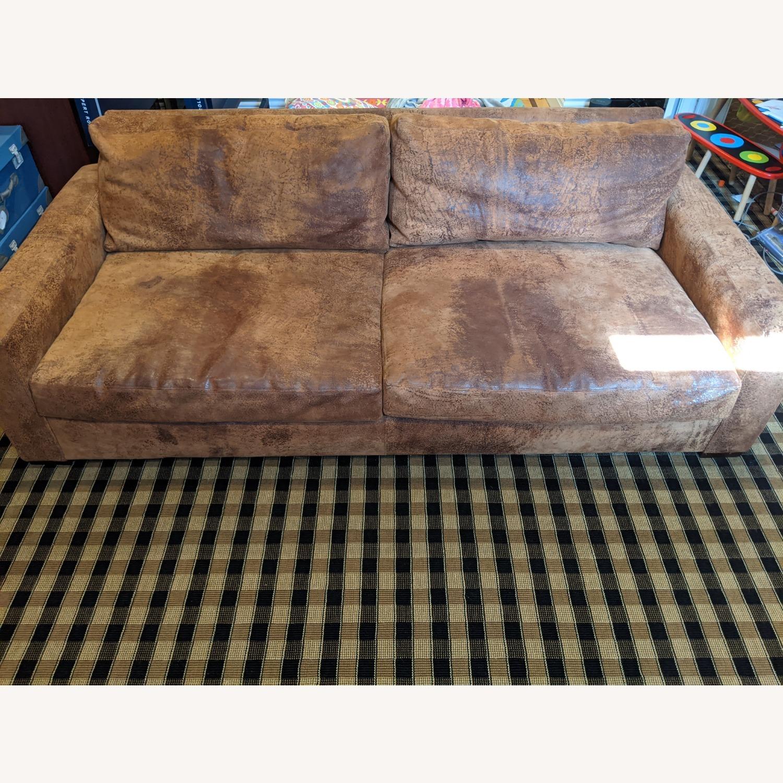 Restoration Hardware Maxwell Sofa -Italian Leather - image-1