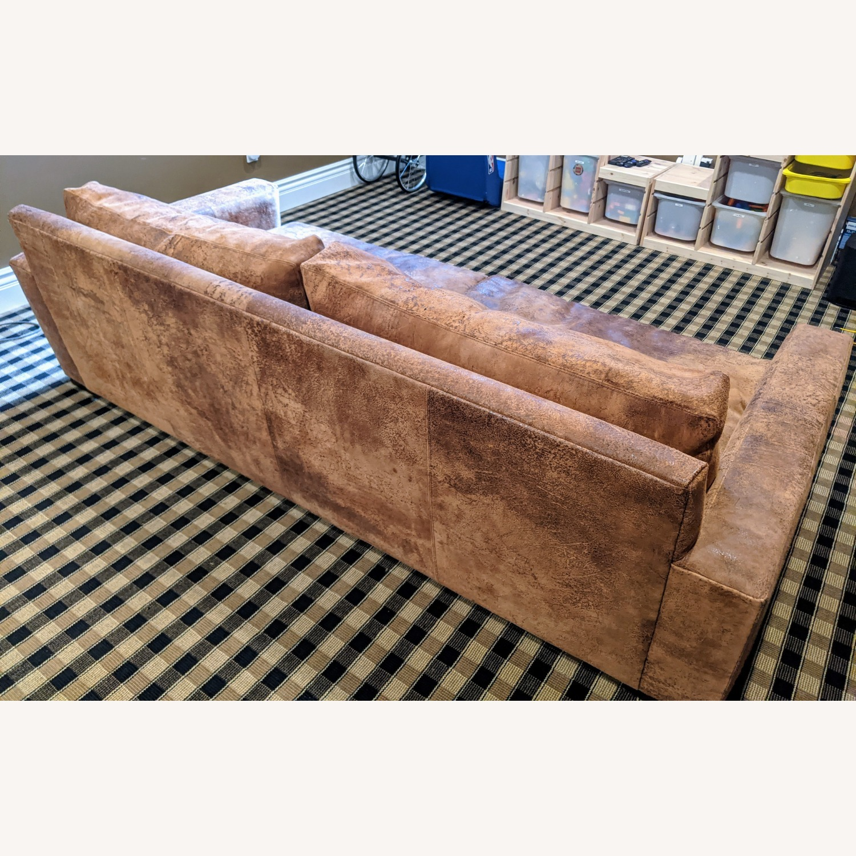 Restoration Hardware Maxwell Sofa -Italian Leather - image-2