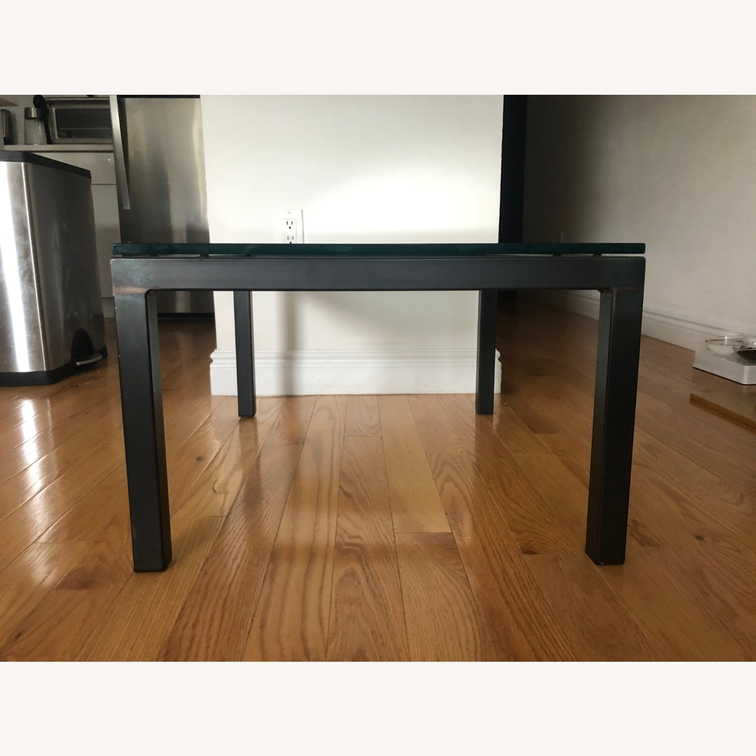 Room & Board Glass Top Parsons Coffee Table - image-3