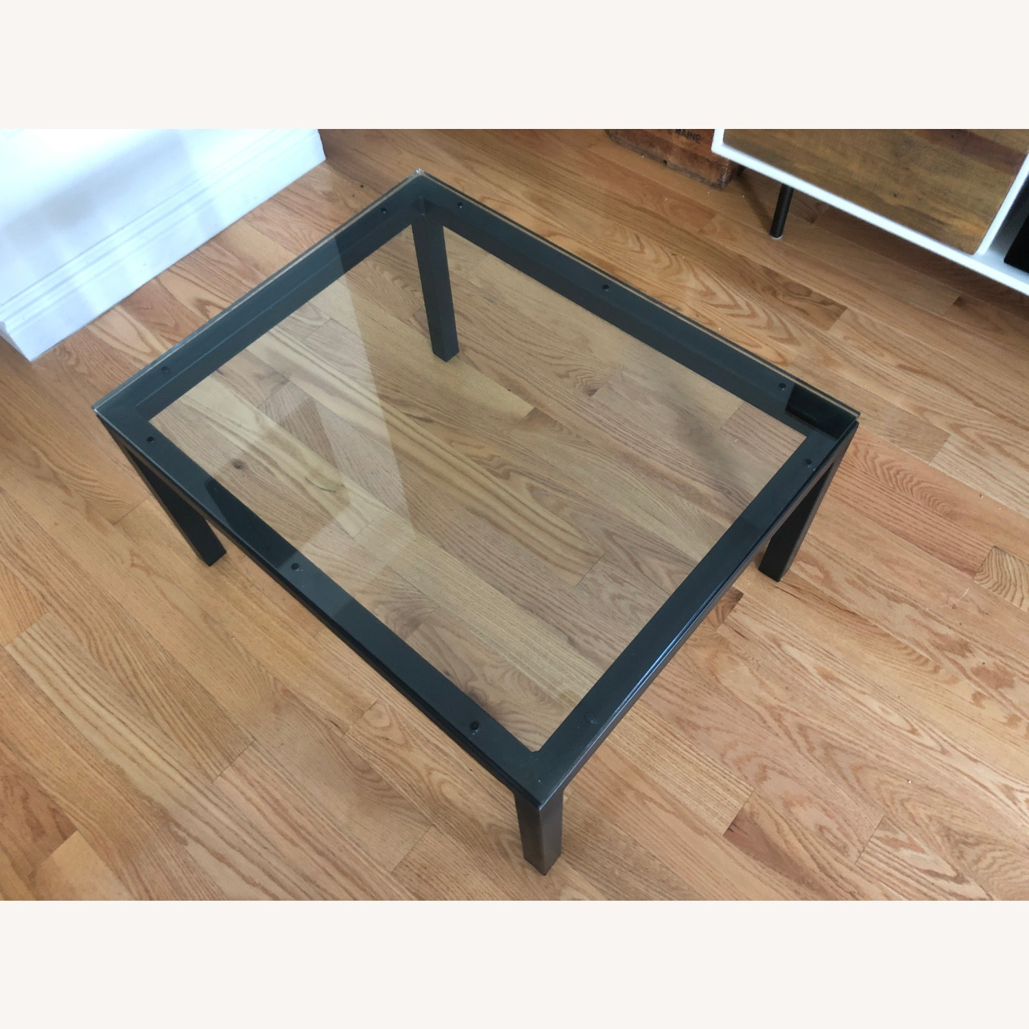 Room & Board Glass Top Parsons Coffee Table - image-1