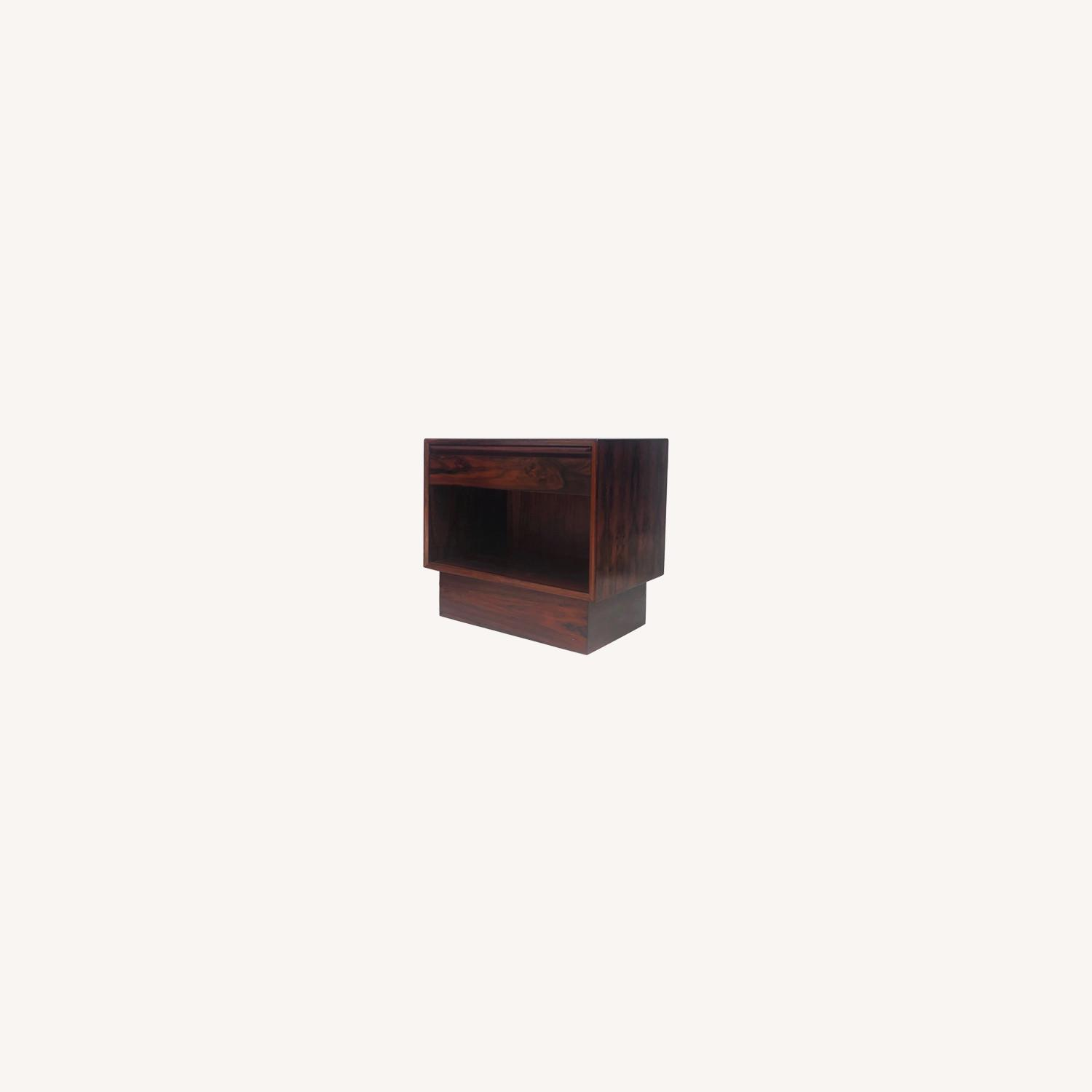 Mid-Century Rosewood Nightstands- a Pair - image-0