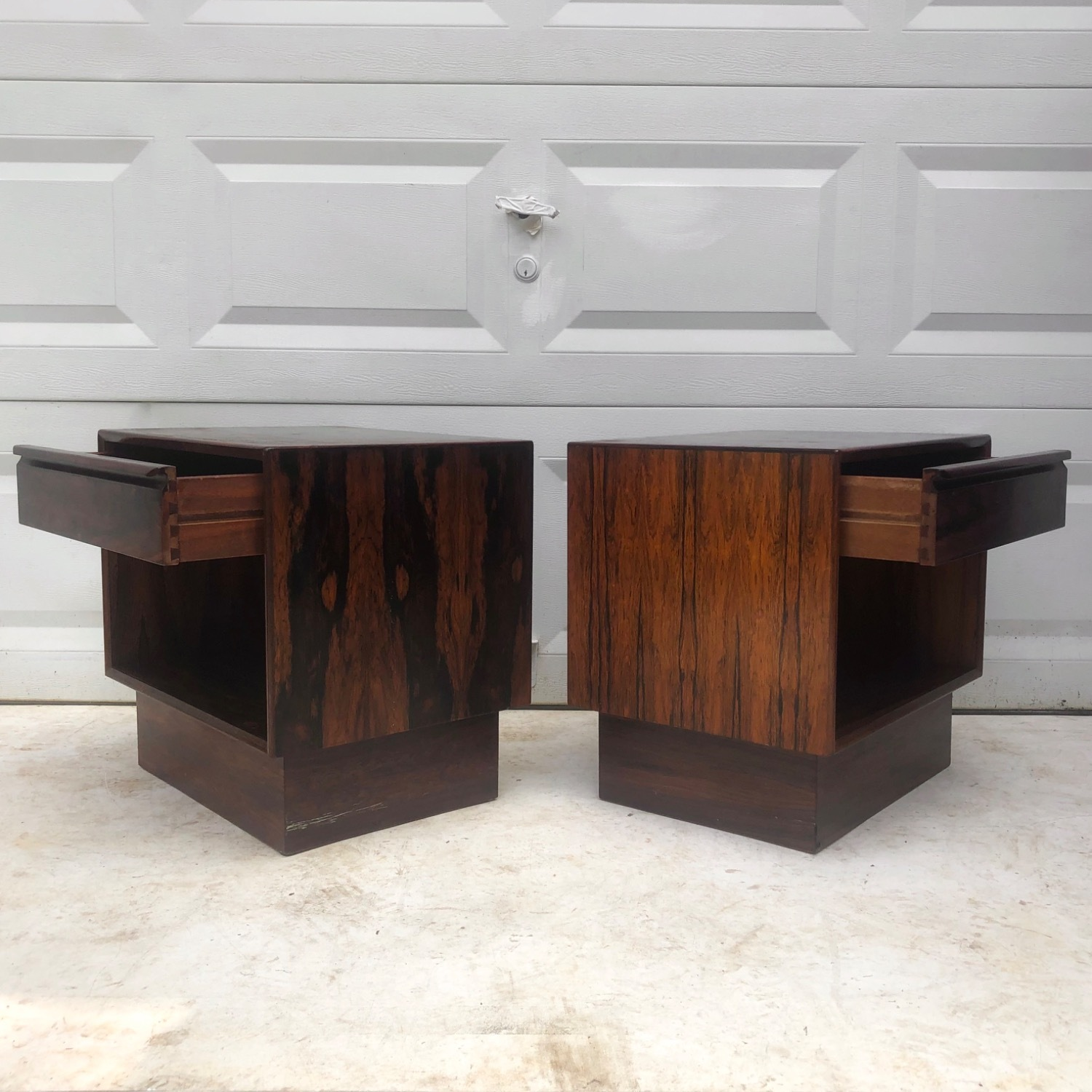 Mid-Century Rosewood Nightstands- a Pair - image-3