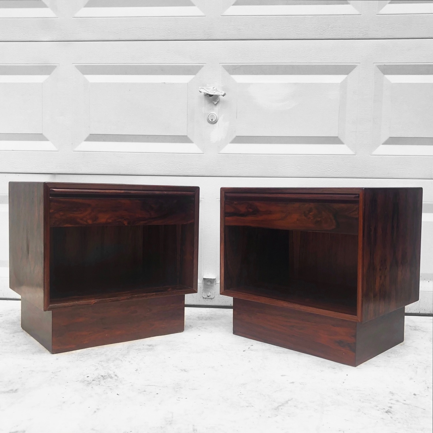 Mid-Century Rosewood Nightstands- a Pair - image-1