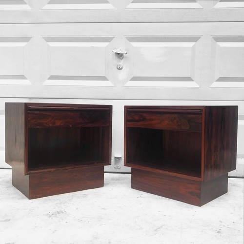 Used Mid-Century Rosewood Nightstands- a Pair for sale on AptDeco