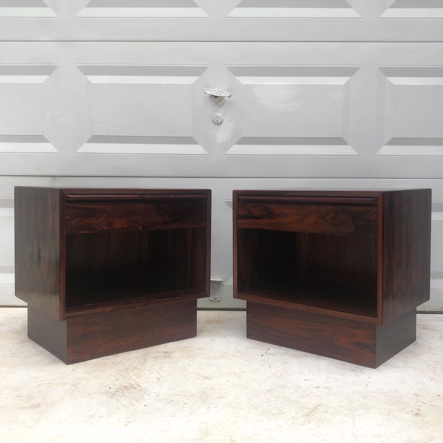Mid-Century Rosewood Nightstands- a Pair - image-16