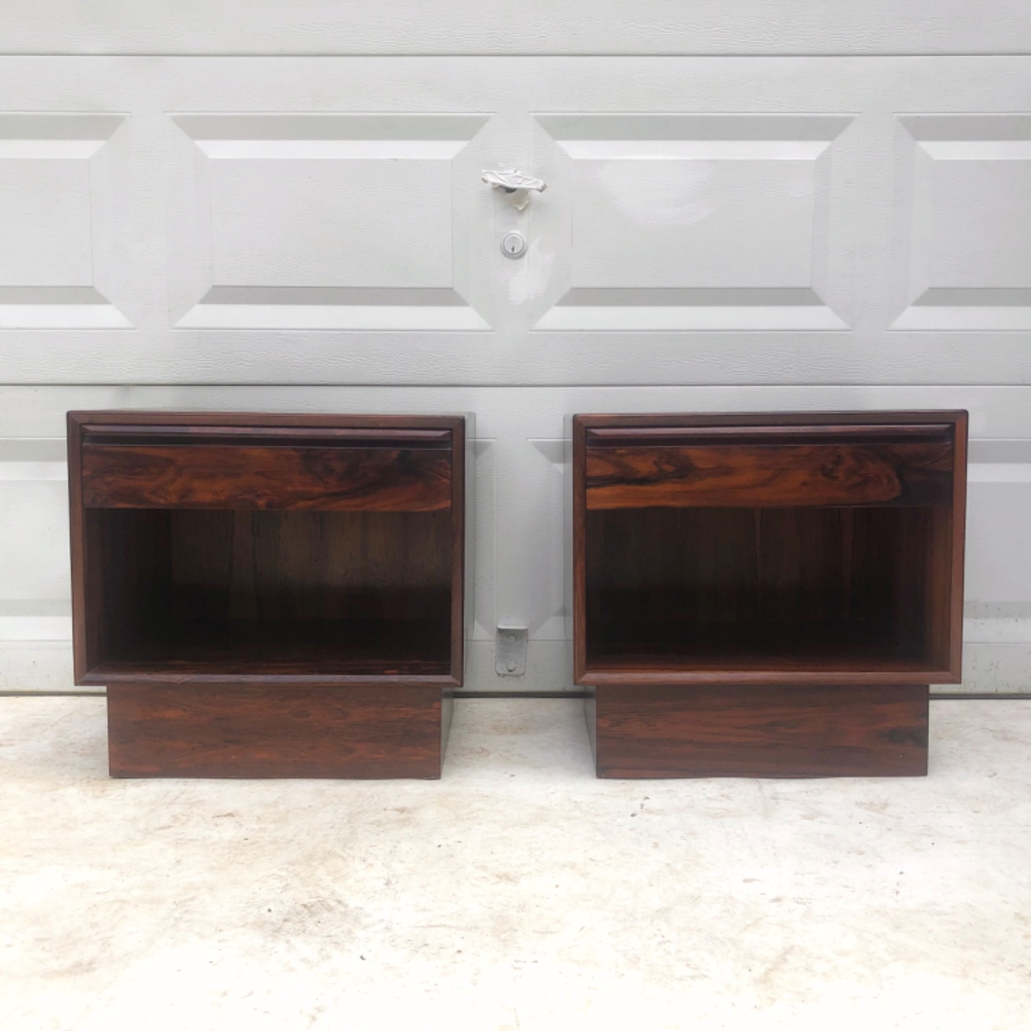 Mid-Century Rosewood Nightstands- a Pair - image-2