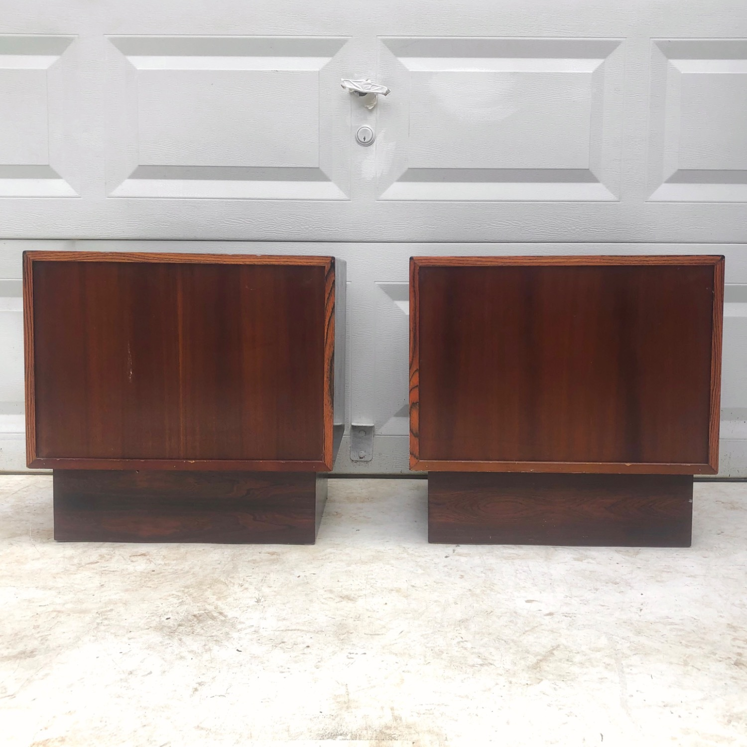 Mid-Century Rosewood Nightstands- a Pair - image-5